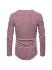 Fall Solid Long Sleeve Knitting T Shirt