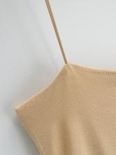 Sexy Solid Camisole Bodysuit Women
