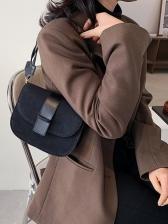 New Stone Pattern Saddle Bag Women