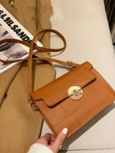 Simple Solid Cross Shoulder Bag
