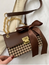 Fashion Houndstooth Bow Shoulder Bags