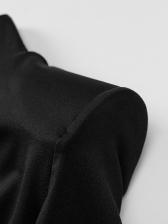 Sexy Black Long Sleeve Mini Dress