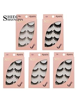 Fashion Natural Thickness 4 Pieces False Eyelash