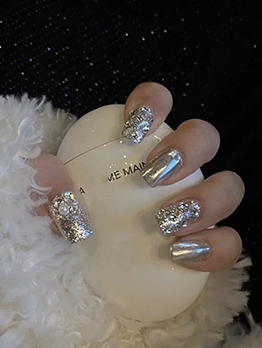 Reflect Sequined False Nail Patch Stylish