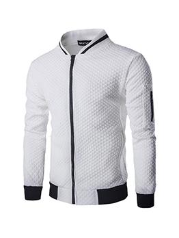 New RhombusPlaid Zipper Outwear