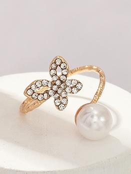 Butterfly Rhinestone Fashion Korean Style Ring