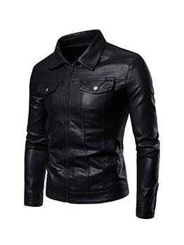 New Pocket Turndown Collar Winter Jacket