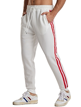 Contrast Color Striped Tracksuit Bottoms
