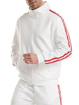 New Striped Zipper Outwear For Men
