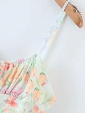 Vacation Printed Spaghetti Strap Mini Dress