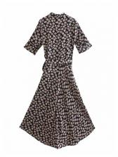 Flower Printed Half Sleeve Maxi Dresses