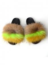 Non-slip Faux Fur Ladies Cute Slippers