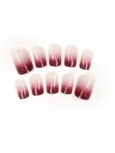 Online Gradient Color False Nail Patch Ladies