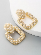 Vintage Faux-Pearl Chinese Style Earrings
