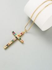 Cross Zircon Online Stylish Necklace