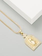 Personality Belief Vintage Zircon Necklace