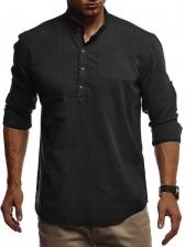 Fashion Stand Collar Shirts For Men