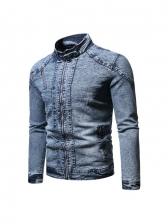Street Denim Plush Winter Mens Jacket