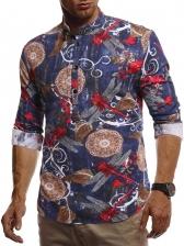 Fashion Colorful Print Long Sleeve Shirt