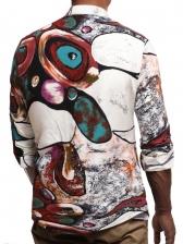 Spring New Print Stand Collar Shirt