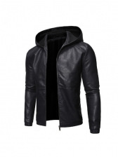 New Hooded Leather Motorcycle Jackets