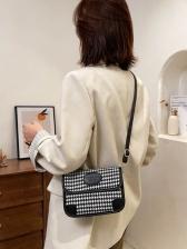 Korean Style Houndstooth Shoulder Bags For Women