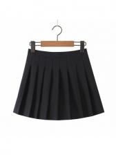 Euro Pleated High Waisted Mini Skirt