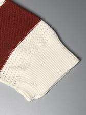 Trendy Color Block Loose Ladies Sweater