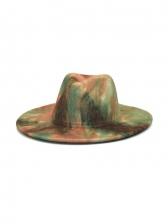 Latest Style Tie Dye Vintage Fedora Hat