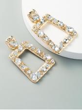 Geometry Rhinestone Business Women Earrings
