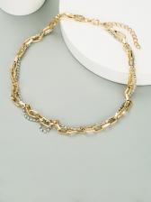 Plain Easy Match Rhinestone Ladies Necklace
