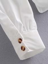 New White Doll Collar Blouse Women