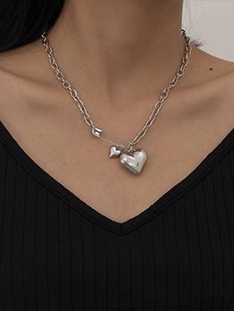 Vogue Simple Create Heart Necklace Women