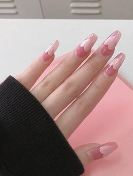 Pink Color Exquisite Ladies False Nail Patch