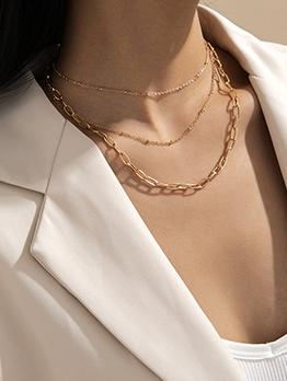 Fashion Simple Versatile Chain Necklace