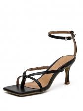 Chic Square Toe High Heel Ladies Sandal