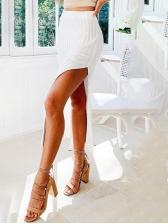 Chic Solid High Slit Skirt Knitted Maxi Skirt