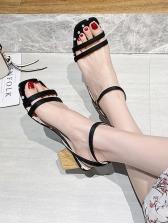 Polka Dots Chunky Heel Ladies Sandal