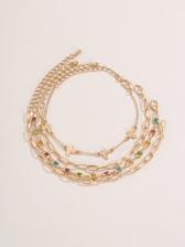 Simple Rhinestone Vintage Bracelet Set