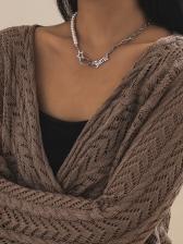 Fashion Plain Faux-Pearl Versatile Street Necklace