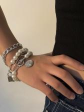 Street Stylish Faux-Pearl Sets Bracelet Ladies