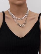 Simple Design Key Chain Women Necklace