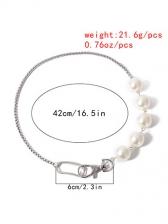 Stylish Faux-Pearl Vintage Plain Necklace