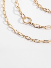 Vintage Simple 3 Pieces Necklace Set