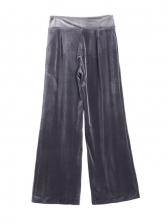 Loose Velvet High Waist Wide Leg Pants