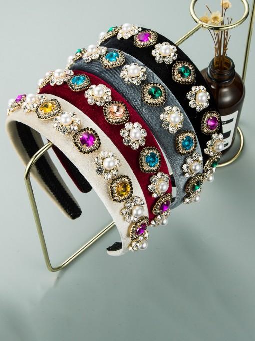 Korean Style Colourful Rhinestone Vintage Hair Hoop