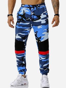 Casual Drawstring Men Camouflage Jogger Pants