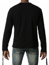 Casual Zipper Design Solid Men Tee Shirts