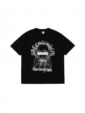 Hip Pop Cartoon Printed Lovers T Shirts