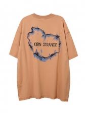 Loose Printed Half Sleeve Cool T Shirts